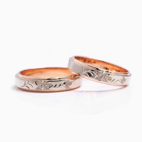 結婚指輪|オレンジの花.1