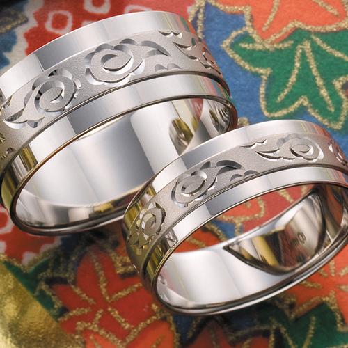 高崎工房の結婚指輪soumon06