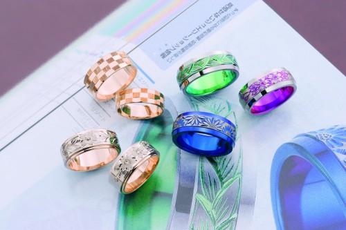 高崎工房の結婚指輪いろいろ 刻印消し済