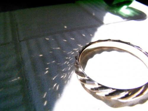 高崎工房の結婚指輪N-3 反射2