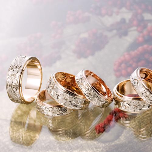 高崎工房の結婚指輪|桜4種
