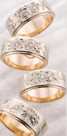 高崎工房の結婚指輪花4種