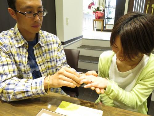 完成した指輪の交換|IMG_5524