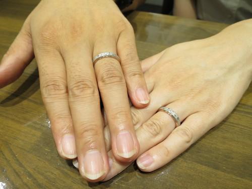 結婚指輪の完成記念写真|IMG_4083