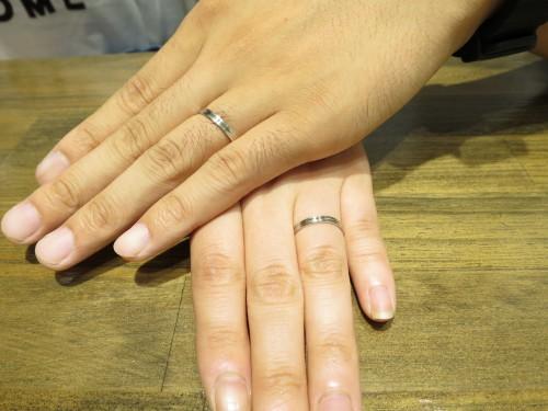 結婚指輪の完成記念写真|IMG_4084