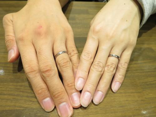 高崎工房のお客様Y様M様の結婚指輪TJ-26|IMG_6249