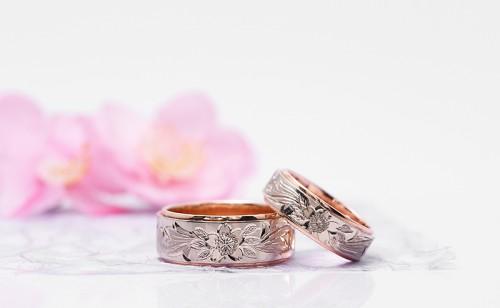 輪の結婚指輪|桜4種No.1