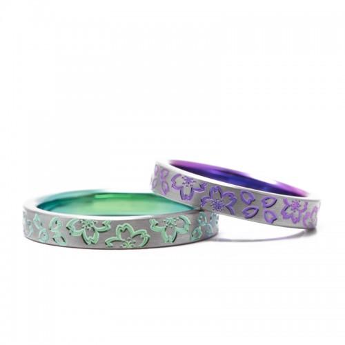輪のチタンの結婚指輪|川津桜