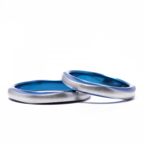 輪のチタンの結婚指輪|待宵
