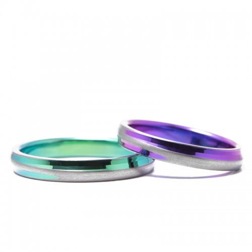 輪のチタンの結婚指輪|十日夜