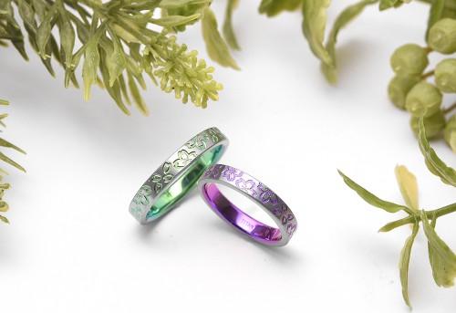 輪の結婚指輪|河津桜