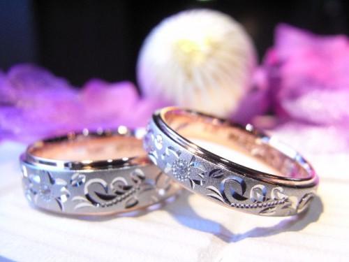 お客様の結婚指輪|アレンジ5
