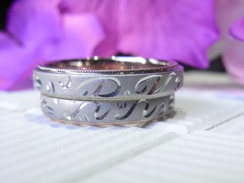 お客様の結婚指輪|アレンジ6