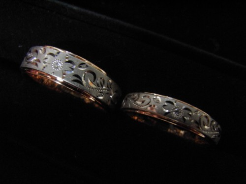 お客様の結婚指輪|特彫り 4