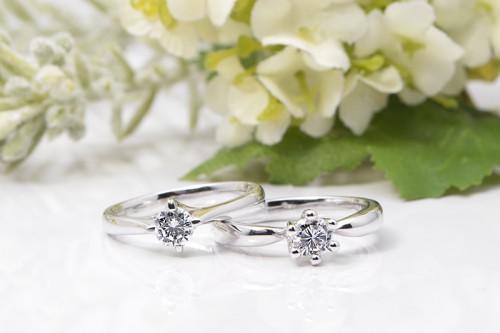 館林工房の婚約指輪WLD-24,26