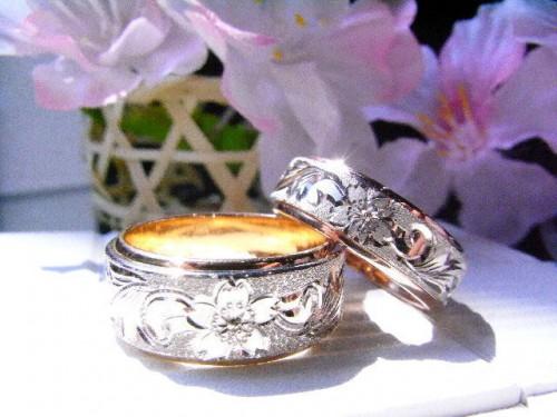 高崎工房の結婚指輪|04-4桜4種