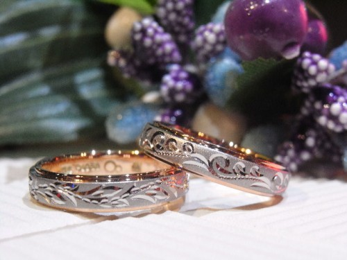お客様の結婚指輪|白緑&水縹