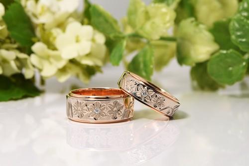 館林工房の結婚指輪 花4種すいせん