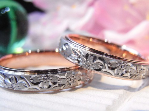お客様の結婚指輪|満開桜子