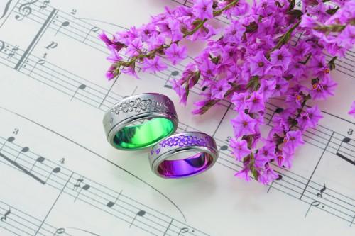 結婚指輪|桜咲く