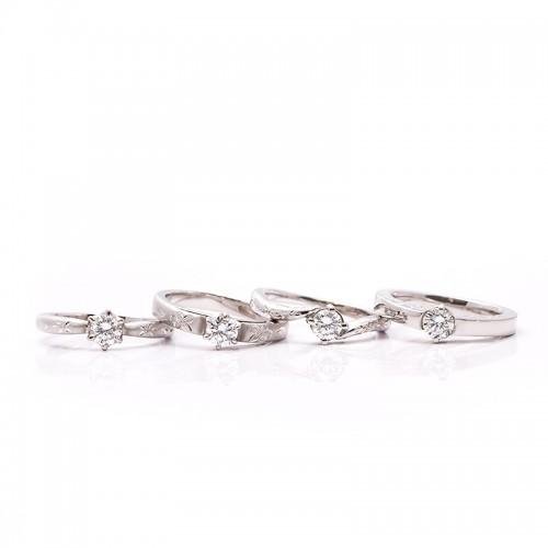 高崎工房の婚約指輪|オレンジの花1