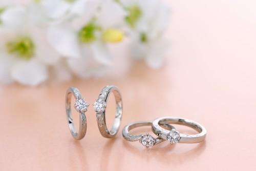 高崎工房の婚約指輪|オレンジの花4
