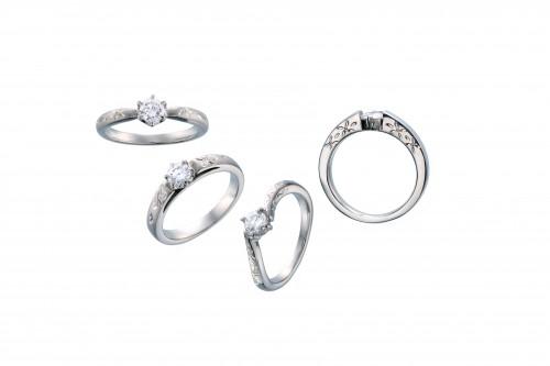 高崎工房の婚約指輪|オレンジの花5