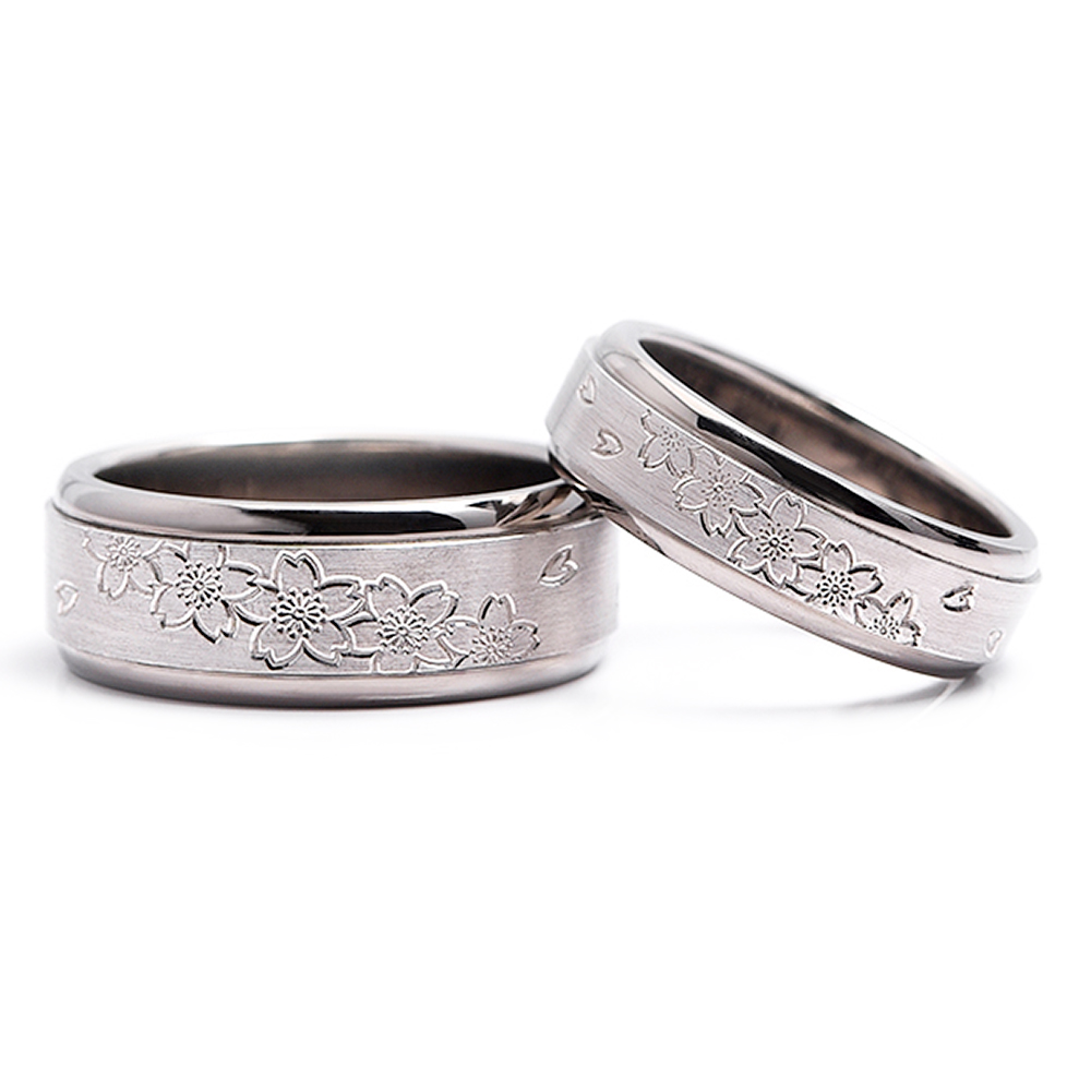 輪高崎工房の結婚指輪|桜咲く