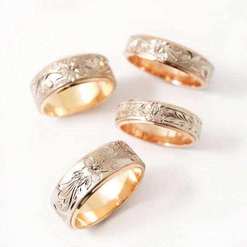 高崎工房の結婚指輪|桜4種.24