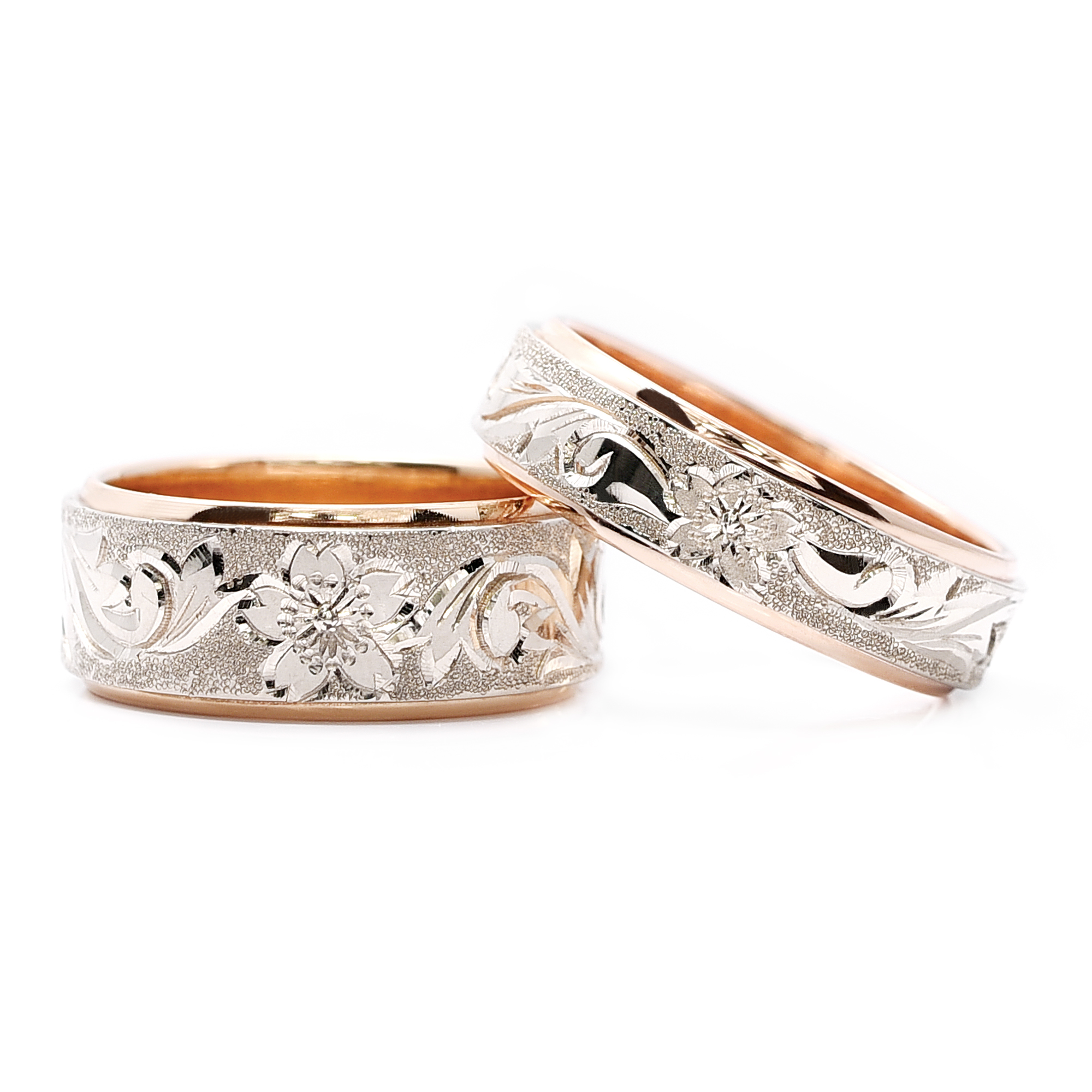 輪高崎工房の結婚指輪|桜NO3