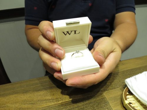 輪ファミリーの婚約指輪|IMG_6562