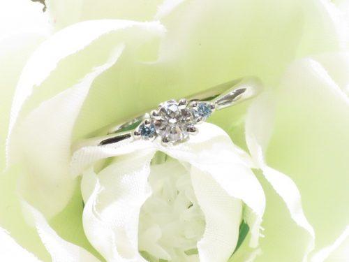 輪ファミリーの婚約指輪|img_6743
