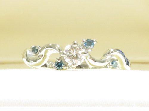 輪ファミリーの婚約指輪|img_7700