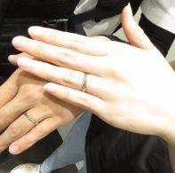 輪ファミリーの結婚指輪|IMG_3466