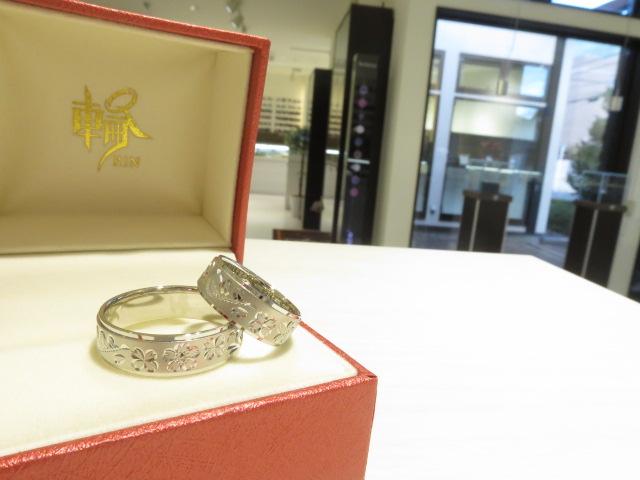 相聞特彫りパラジウム結婚指輪|IMG_4962