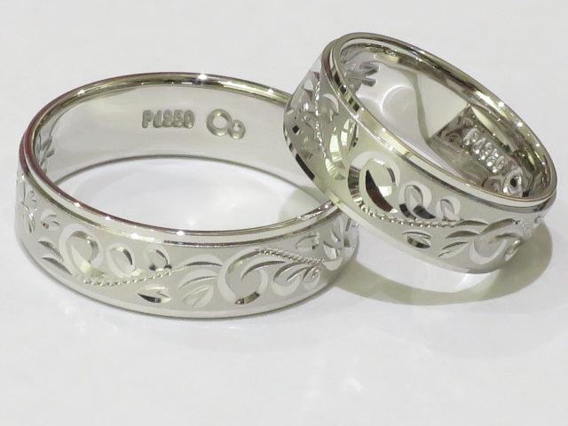 相聞特彫りパラジウム結婚指輪|IMG_4963