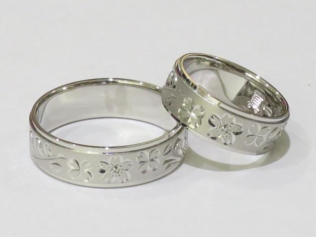 相聞特彫りパラジウム結婚指輪|IMG_4964