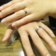輪ファミリーの結婚指輪|IMG_6377