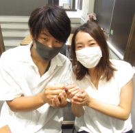 輪ファミリーの結婚指輪|IMG_3679