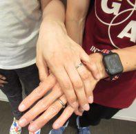 輪ファミリーの結婚指輪|IMG_5544